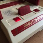 Famicom LED mod under button