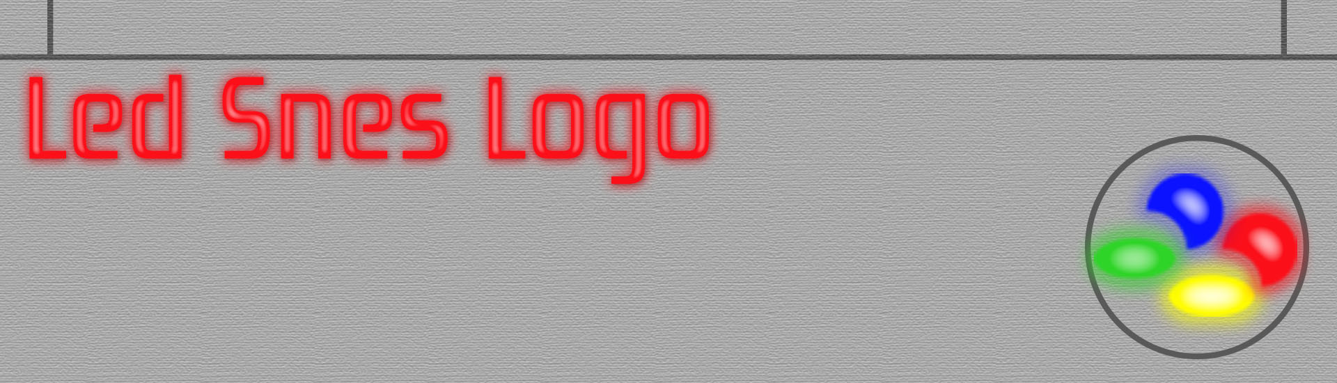 Snes led mod logo
