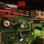 Sega Master System 2 LED mod punti di saldatura